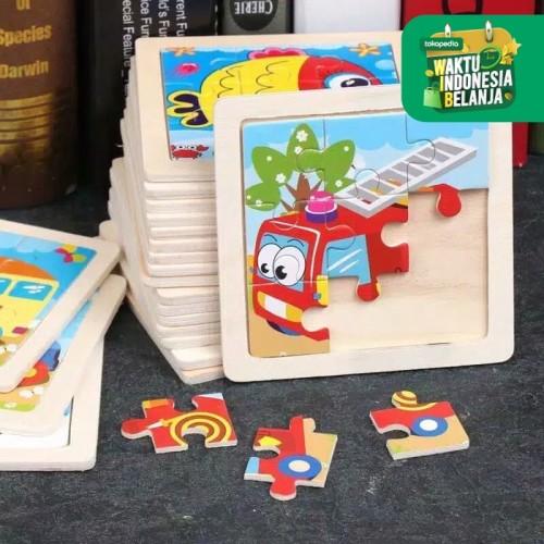 Foto Produk MINI WOODEN PUZZLE Mainan Anak Mainan Puzzle Anak Puzzel Kayu - KURA-KURA dari i do my hobbies