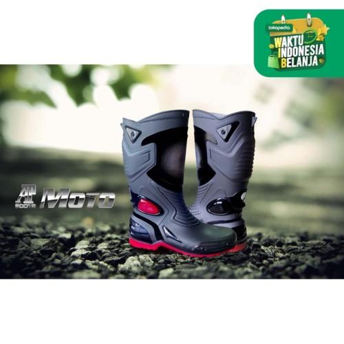 Foto Produk Sepatu Karet PVC Anti Tembus Air Banjir Hujan AP BOOTS MOTO 3 MOTO3 - Hitam, 43 dari lbagstore