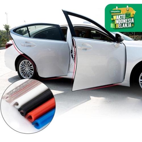 Foto Produk List karet Pintu 5m Pelindung Pintu Dekorasi Peredam Mobil Universal - Hitam dari lbagstore