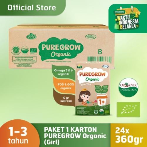 Foto Produk 1 Carton PUREGROW Organic - Susu Formula Organik 1-3 Tahun 360gr Girl dari PUREGROW Organic House