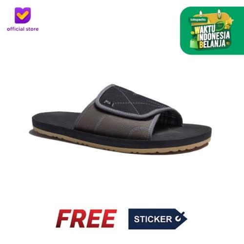 Foto Produk Sendal Pria Rumah Slip On Footstep Footwear - Comfy Black Grey - 41 dari Footstep Footwear