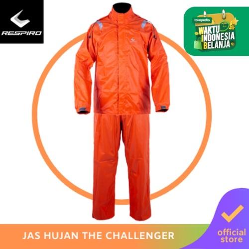 Foto Produk Respiro The Challenger   Jas Hujan Pengendara Motor Waterproof - Orange, M dari Respiro Official Store