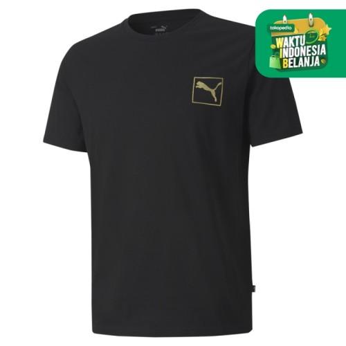 Foto Produk Puma Men Gold Foil Tee Black-58451701 - M dari Puma Official Store