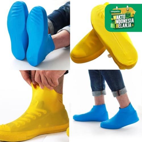 Foto Produk Cover Shoes Jas Pelapis Sepatu Karet Anti Air Hujan Waterproof Tinggi - M Pink dari lbagstore