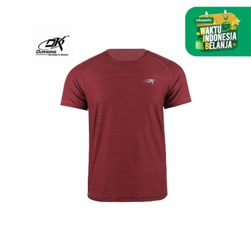 Foto Produk Running Jersey - DK Basic Color Tee Man Maroon - S dari Duraking Outdoor&Sports