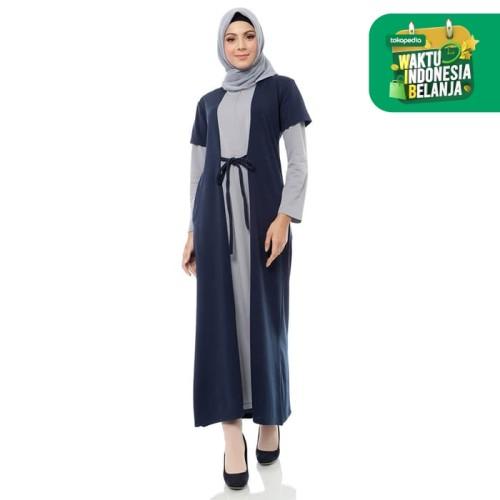 Foto Produk Mybamus Two Tone Elula Dress Navy M12905 R77S2 dari Mybamus Official
