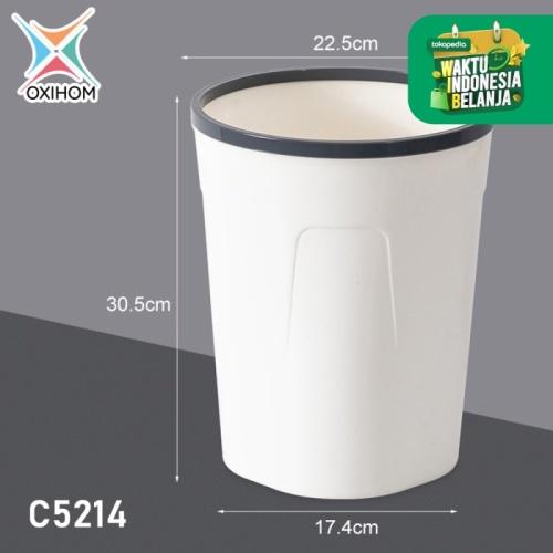Foto Produk Oxihom C5211 Medium Tempat Kotak Keranjang Sampah Plastik Trash Bin - C5214 Abu Abu dari Oxihom