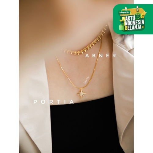 Foto Produk Dear Me - Portia Necklace 925 Sterling Silver 18K Gold Plating Kalung dari Dear Me Jewelry