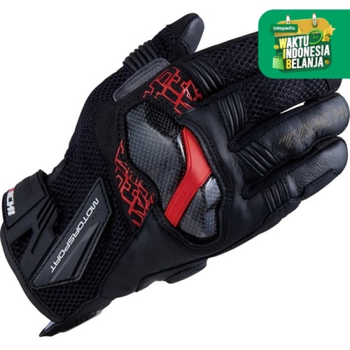 Foto Produk RS Taichi RST448 Armed Mesh Glove - Black Red - L dari RS Taichi Official Store