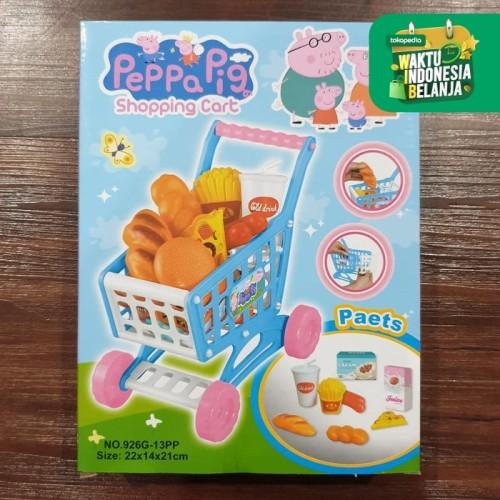 Foto Produk MB213 Mainan Anak SHOPING TROLLEY DORONGAN BELANJA MINI 926G Troli - PEPPA PIG dari Mmtoys Indonesia