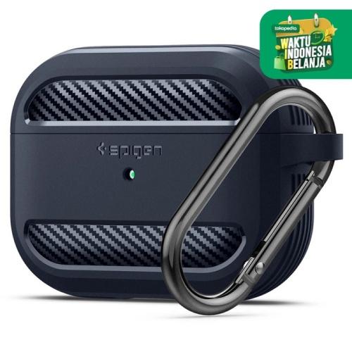 Foto Produk Case Airpods Pro Spigen Rugged Armor Carbon Fiber Softcase Slim Casing - Charcoal Gray dari Spigen Official