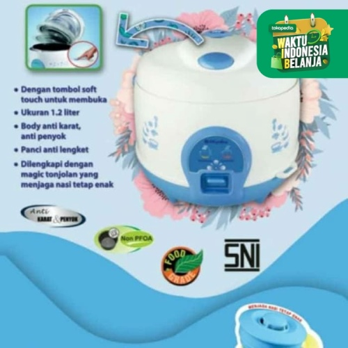 Foto Produk Rice cooker MIYAKO 1.2L - MCM 512 - magic com cook & warm dari sini grosir