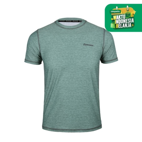 Foto Produk DK Super Light V2 (Man) T Heather Seamless Anti Viral Lime Stone - SLIM FIT, M dari Duraking Outdoor&Sports