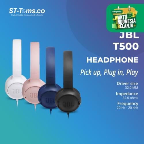 Foto Produk JBL On-Ear Headphone T500 / T 500 - Hitam dari ST-Toms.co