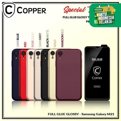 Foto Produk Samsung M21 - Paket Bundling Tempered Glass Glossy Dan Softcase dari Copper Indonesia