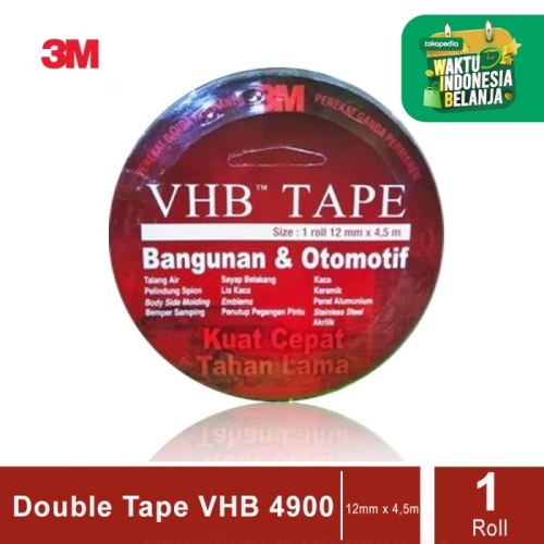 Foto Produk 3M VHB Double Tape Automotive 4900 size 12mm x 4.5m -Double Tape Mobil dari 3M