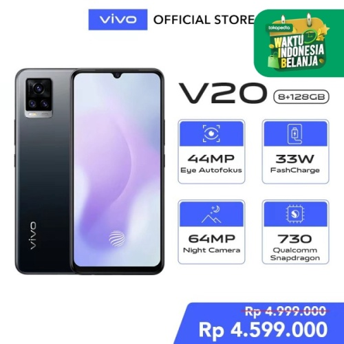 Foto Produk Vivo V20 [8/128] RAM 8GB ROM 128GB Midnight Jazz dari Vivo Indonesia