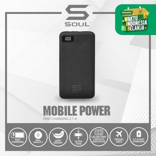 Foto Produk Powerbank Soul LED Fast Charging 2.1A, Ultra Light Slim 10.000 mAh dari Soul official