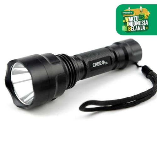 Foto Produk Senter LED Police Swat TaffWare C8 Flashlight Waterproof Q5 3800 Lumen dari lbagstore