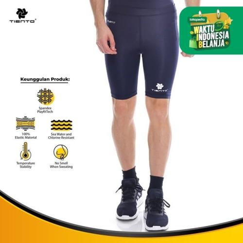 Foto Produk Baselayer Manset Tiento Short Pants Navy White Original - S dari TIENTO