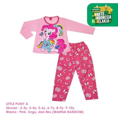 Foto Produk Baju Setelan Anak Perempuan Panjang 2-10 Tahun Little Pony A Shirton - PONY A, 5-6y Panjang dari shirton