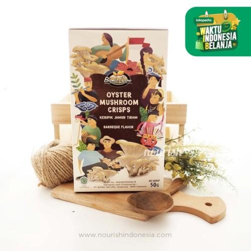 Foto Produk Bionic Farm, oyster mushroom chips BBQ 50gr dari Nourish Indonesia
