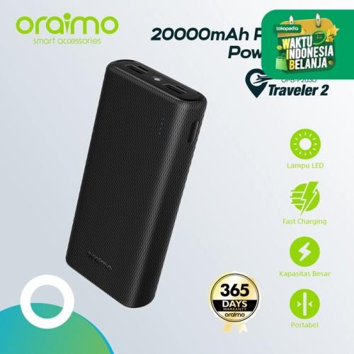 Foto Produk Oraimo Dual USB Port Fast Charging 20000mAh Powerbank OPB-P203D - Hitam dari Oraimo_indonesia