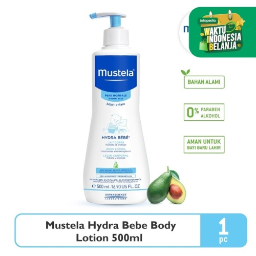 Foto Produk Mustela Hydrabebe Body lotion 500 ml dari Mustela Indonesia