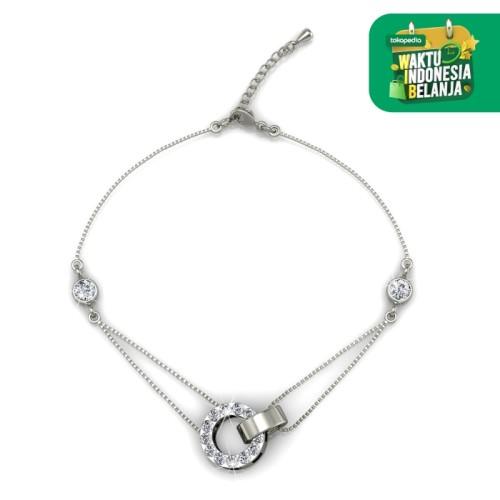 Foto Produk Circle Me Bracelet - Gelang Crystal Swarovski by Her Jewellery - White Gold dari Her Jewellery