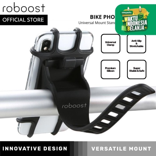 Foto Produk roboost Bike Phone Holder Universal Mount Stand for Bicycle Motor dari roboost Official Store