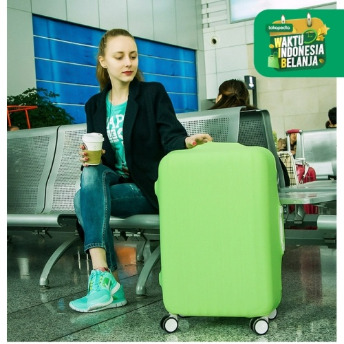 Foto Produk pelindung koper, elastic luggage cover,sarung bagasi warna warni (L) dari Lovely Gubuk