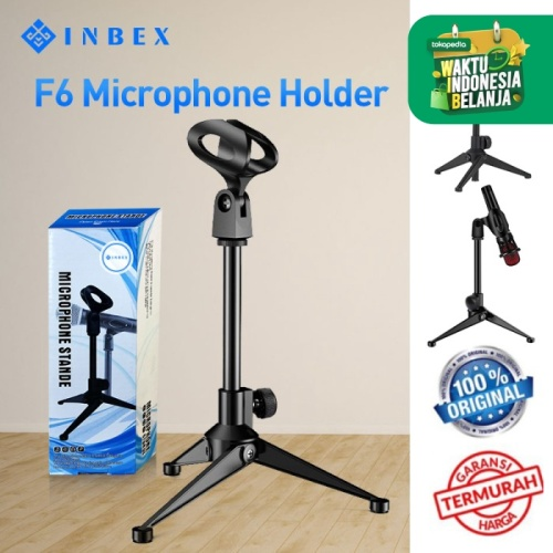 Foto Produk INBEX F6 Mikrofon Stand/Adjustable Tripod with Heavy Duty Clutch dari INBEX Official Store