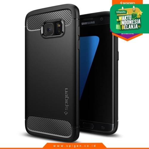 Foto Produk Spigen Rugged Armor Case for Galaxy S7 Edge - Black dari Spigen Official