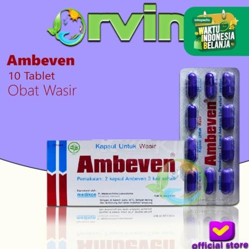 Foto Produk Ambeven 1 strip @10 Tablet / obat Wasir / obat saluran pencernaan dari Orvin Health & Beauty