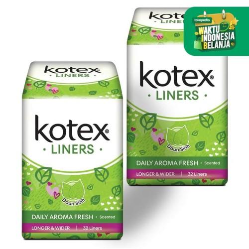 Foto Produk Kotex Liners Longer & Wider Daun Sirih 32s 2 Pack dari KOTEX HUGGIES INDONESIA