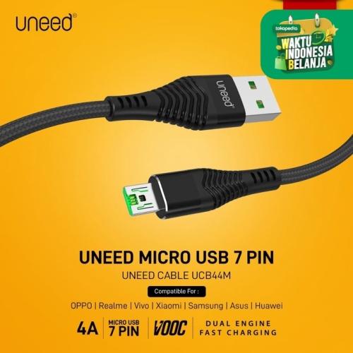Foto Produk UNEED Braided Kabel Data Micro USB 7pin Max 4A VOOC / QC 3.0 - UCB44M dari Uneed Indonesia