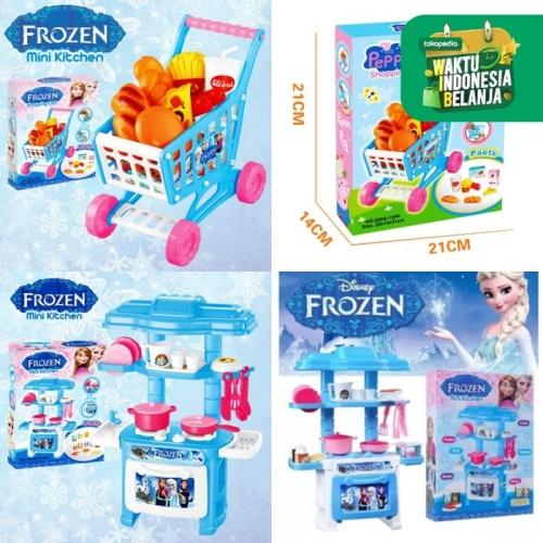Foto Produk CM-A9 Mainan Anak 2in1 Set Shopping Trolley Mini + Kitchen Set Mini dari Mmtoys Indonesia