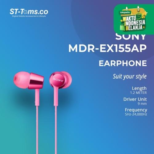 Foto Produk Sony In-Ear Monitor Headphone MDR-EX155AP / EX 155AP (N) - Gold - Emas dari ST-Toms.co