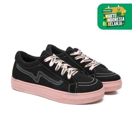 Foto Produk PVN Sepatu Sneakers Wanita Sport Shoes 113 - black pink, 38 dari PVN Official Store