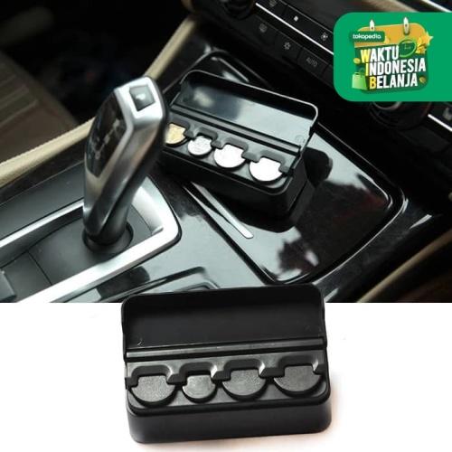Foto Produk Tempat Uang Koin Receh Mobil Case Coin Box Car Storage Organizer 4Slot dari lbagstore