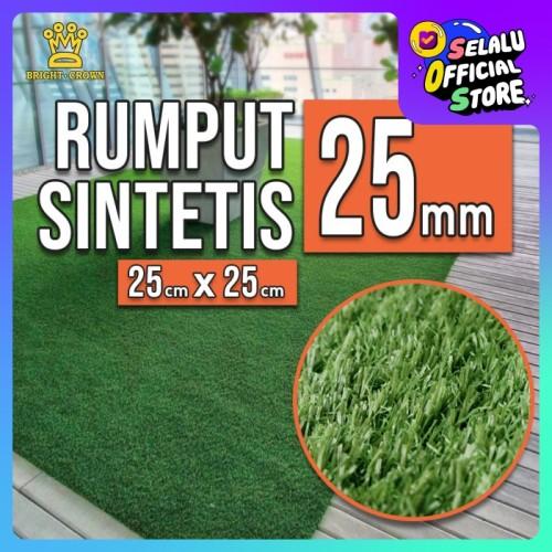 Foto Produk Karpet rumput sintetis 25 mm tipe swiss import langsung 25cmX25cm dari Kerajaan karpet