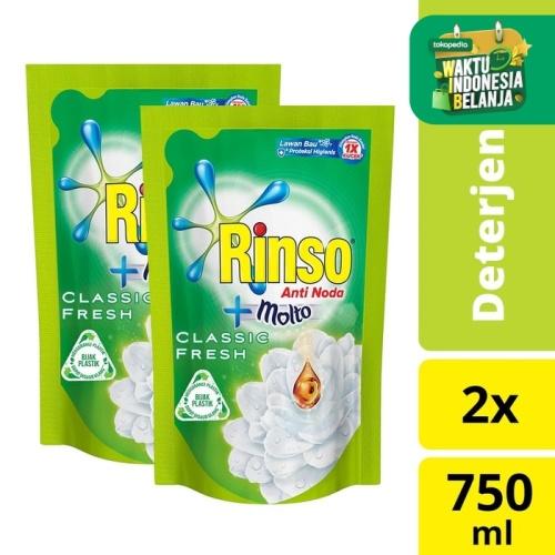 Foto Produk Rinso Deterjen Cair Anti Noda 750ml - Twin Pack dari Unilever Official Store