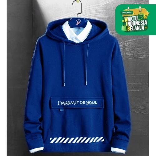 Foto Produk FortKlass ARNAN Sweater Hoodie Unisex Lengan Panjang Pria Wanita - Navy dari FortKlass