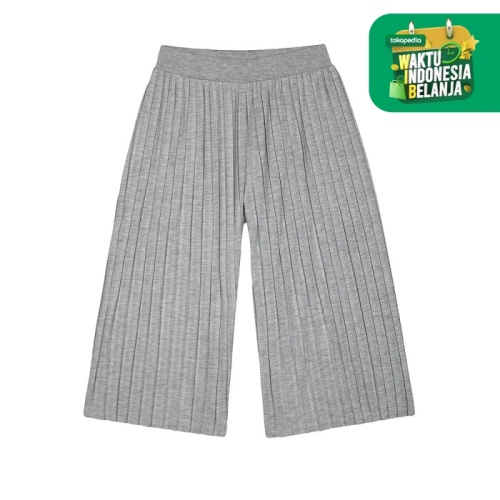 Foto Produk Mothercare grey marl palazzo wide-leg trousers - GREY, 3-4 years dari Mothercare ELC Official