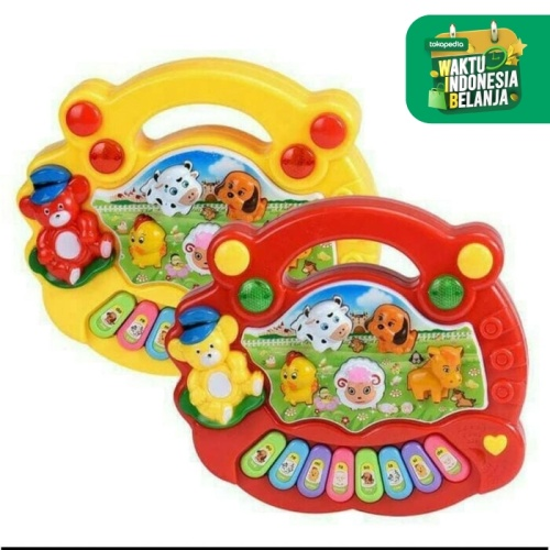 Foto Produk Mainan Edukasi Edukatif Musik Anak Bayi Animal Music Farm Piano Organ dari Toylogy