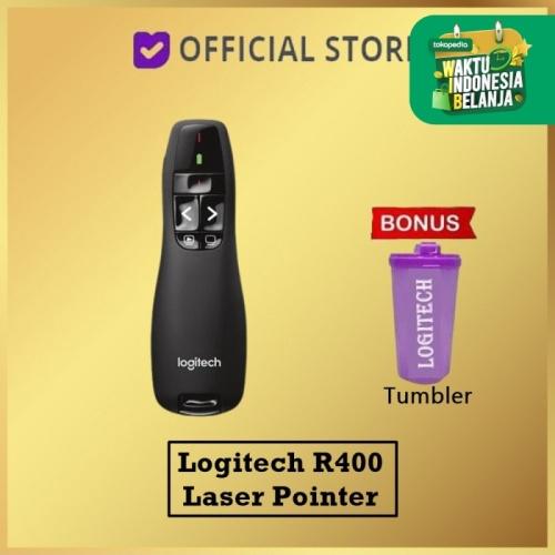 Foto Produk LOGITECH R400 - Logitech Presenter , Wireless Presenter, Laser Pointer - Hitam dari DUNIA COMPUTER & SERVICE