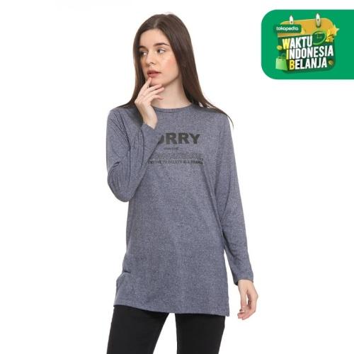 Foto Produk Colorbox Long Loose Tshirt With Side Slit Blue I:TLKKEY220A010 - Biru, S dari Colorbox Indonesia
