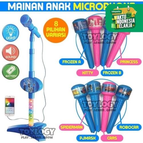 Foto Produk Mainan Edukasi Musik Anak Laki laki Microphone Mic Karakter Cowok dari Toylogy