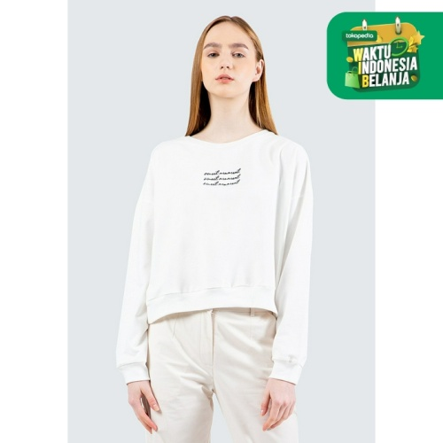 Foto Produk Colorbox Printed Sweatshirt I-Stkkey120E034 Off White - Off White, S dari Colorbox Indonesia