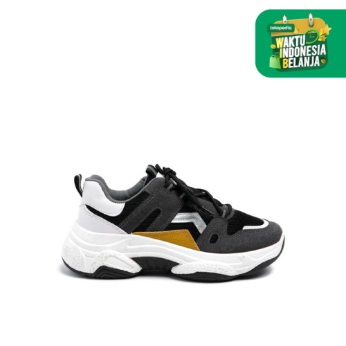 Foto Produk Colorbox Dark Grey Sporty Shoes I-SHWASC220B007 Dark Grey - Dark Grey, 39 dari Colorbox Indonesia